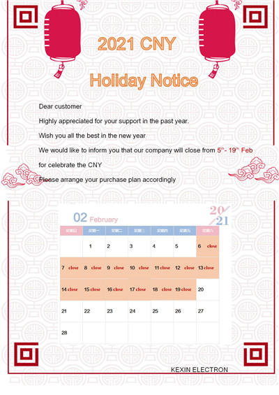 CNY Holiday notice